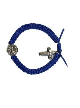 Blue Blessed St. Benedict Cord Bracelet