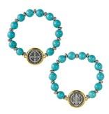 St. Benedict Turquoise Bead Bracelet