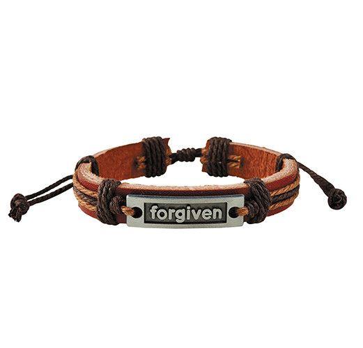 Forgiven Leather Bracelet