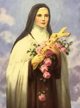 St Therese Wallet Prayer Card