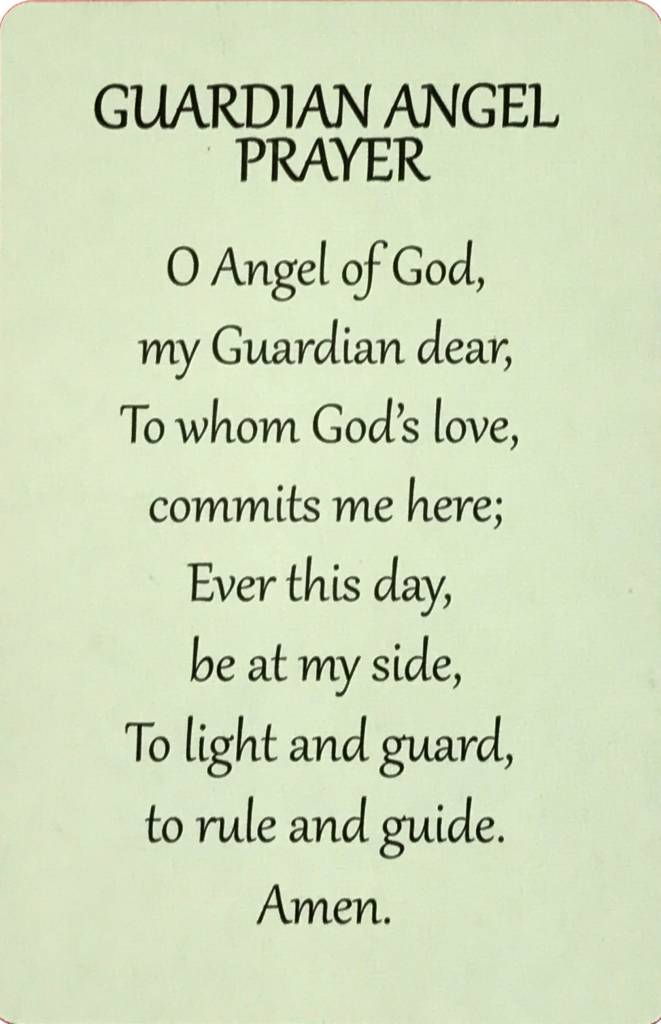 Guardian Angel Wallet Prayer Card