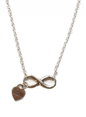 Sisters Infinity Pendant w/Rolo Chain SS