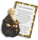 St Benedict Pocket Saint w/Prayer Card