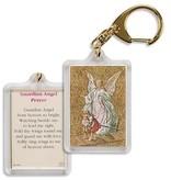 Guardian Angel Prayer Keychain