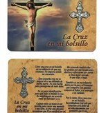 Spanish Cross In My Pocket Prayer Card w/Crucifix