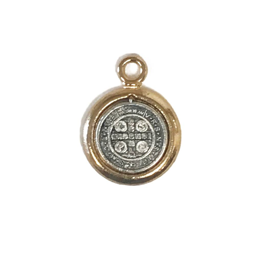 Two-Tone St. Benedict Medal Charm