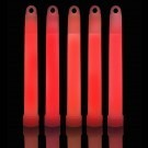 "6"" Red Glowstick w/Cord (25 Pack)"
