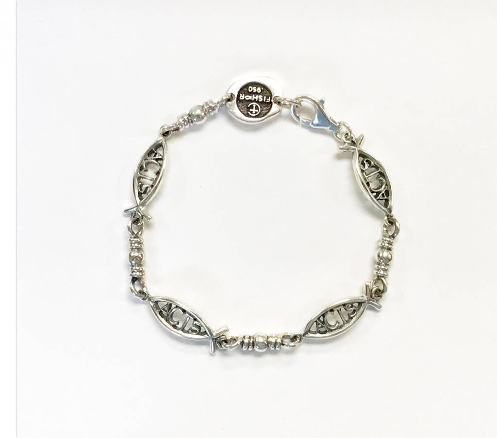 Small ACTS Ichthus Link SS Bracelet 8