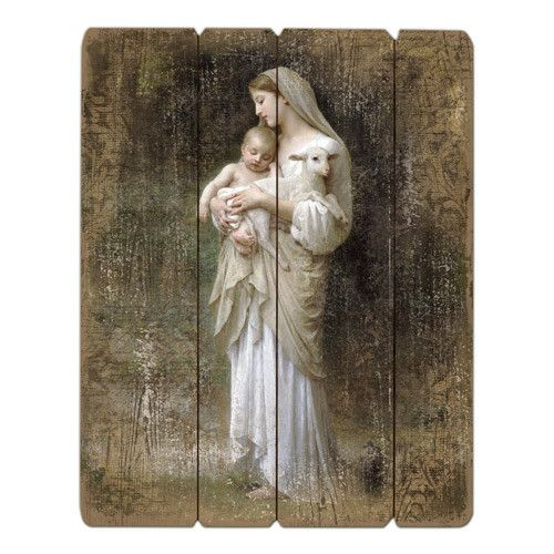 "15"" Bouguereau Innocence Plaque"