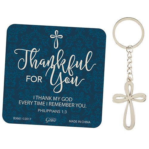 Thankful For You Keychain