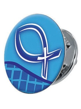Blue Ichthus Epoxy Lapel Pin