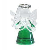 Green Mini Angel Glass Ornament