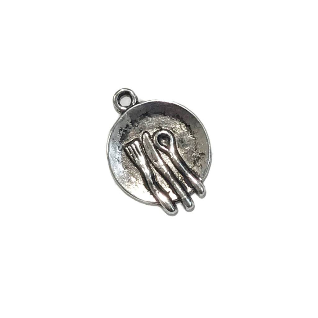Silverware w/plate Charm