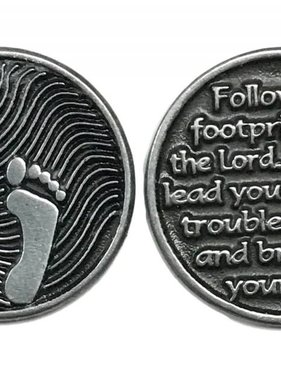 Footprints Pewter Pocken Token