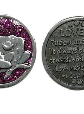 Love is Patient...Sparkle Pocket Token