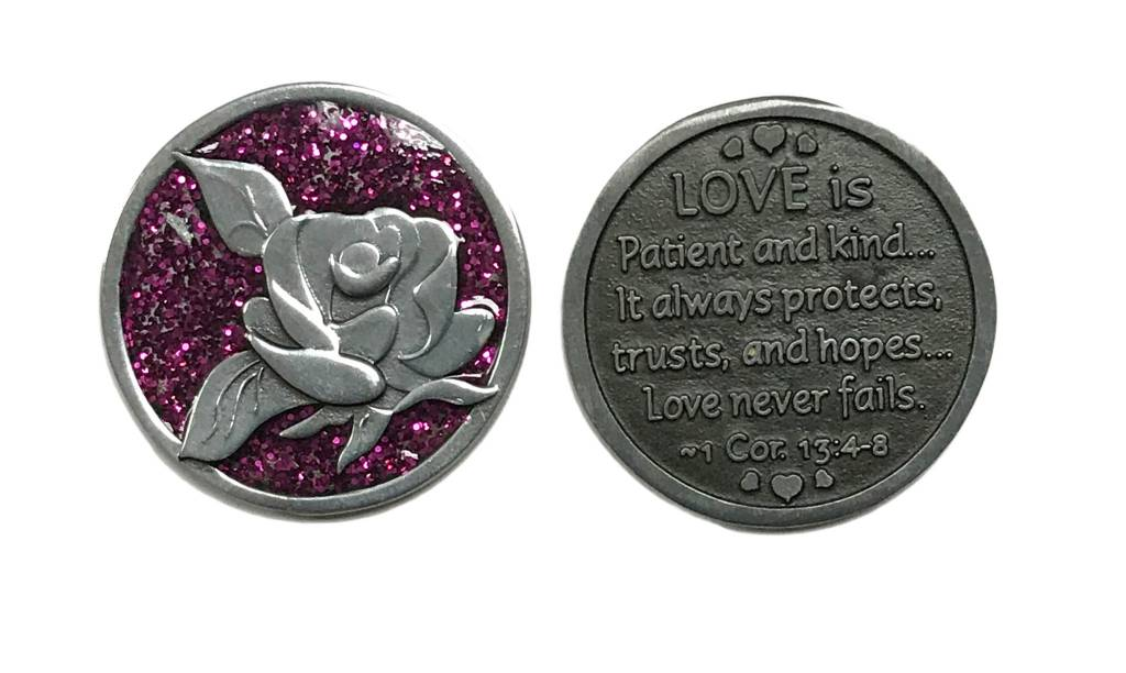 Love is Patient...Sparkle Pocket Token
