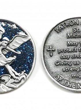 St. Michael Sparkle Pocket Token