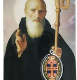 St. Benedict Prayer Card w/ Epoxy Medal