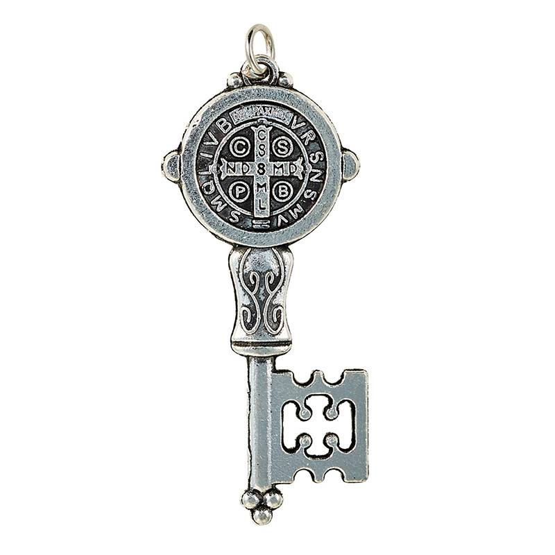 St. Benedict Key Pendant w/Prayer Card