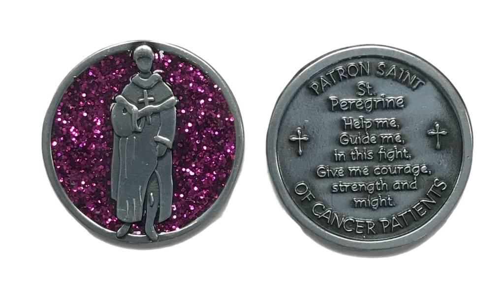 St. Peregrine Patron Saint of Cancer Sparkle Pocket Token