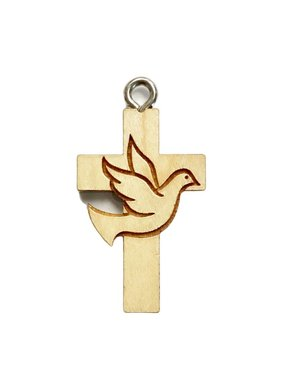 Dove Maple Wood Cross w/Cord