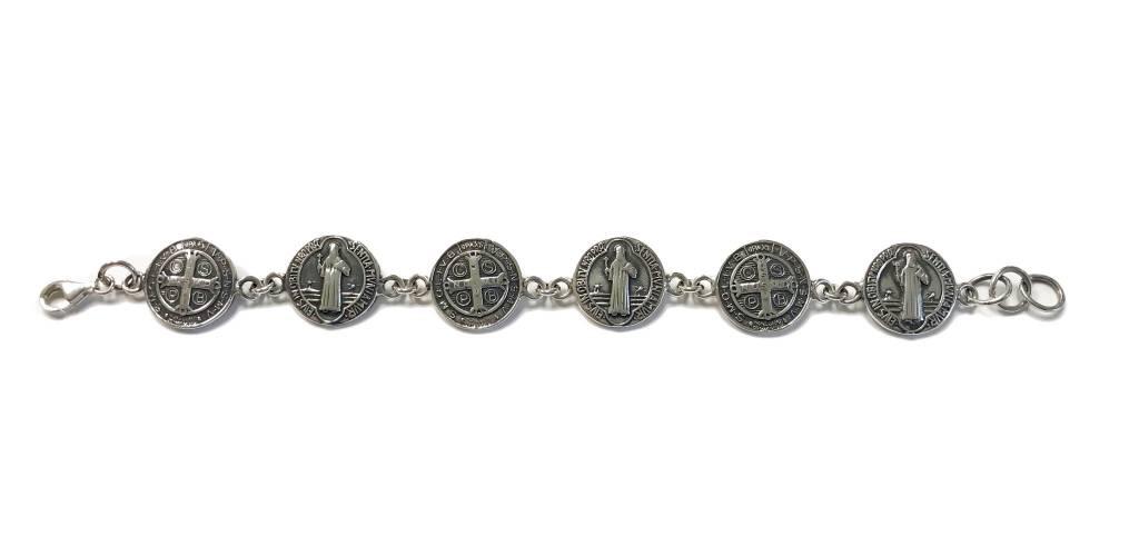 St. Benedict Medals SS Bracelet
