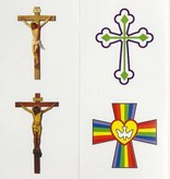 8 Assorted Cross Stickers