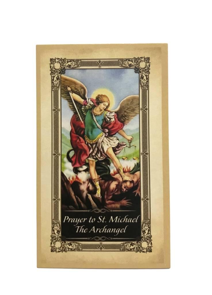 St. Michael Protection Prayer Card