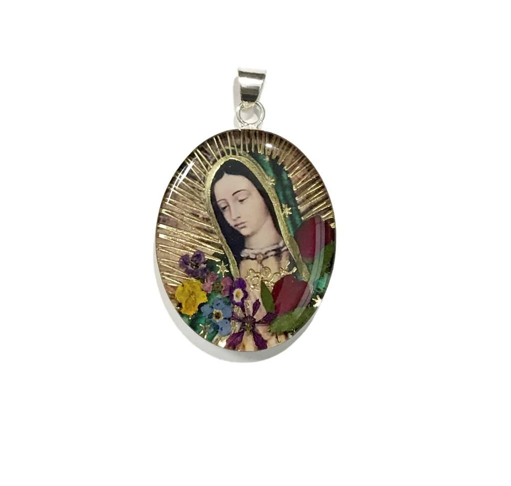 Virgen De Guadalupe Large SS Pendant