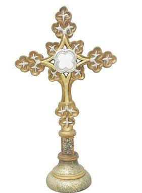 "15.5"" Gold & Silver Table Cross-3"