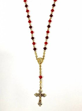 "18"" Red Rosary Necklace"