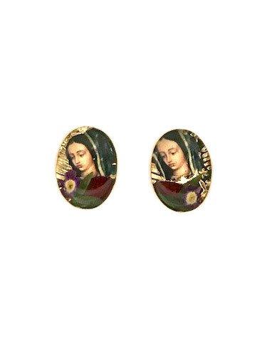 Virgen De Guadalupe Stud Earrings