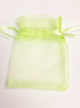 "Lime Green Organza Bag 3""X2"""