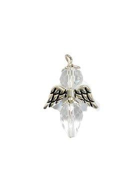 Clear Glass Bead Angel Charm
