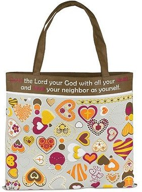 Love the Lord Your God Nylon Tote Bag