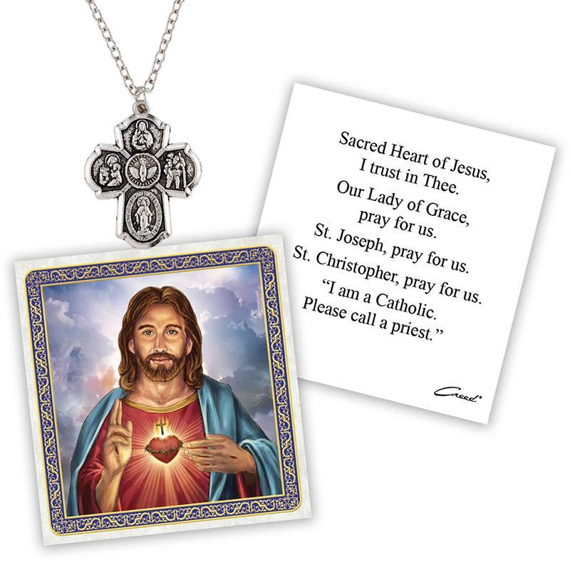 Four Way Devotional Medal w/Chain