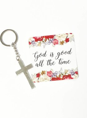 God is Good Keychain