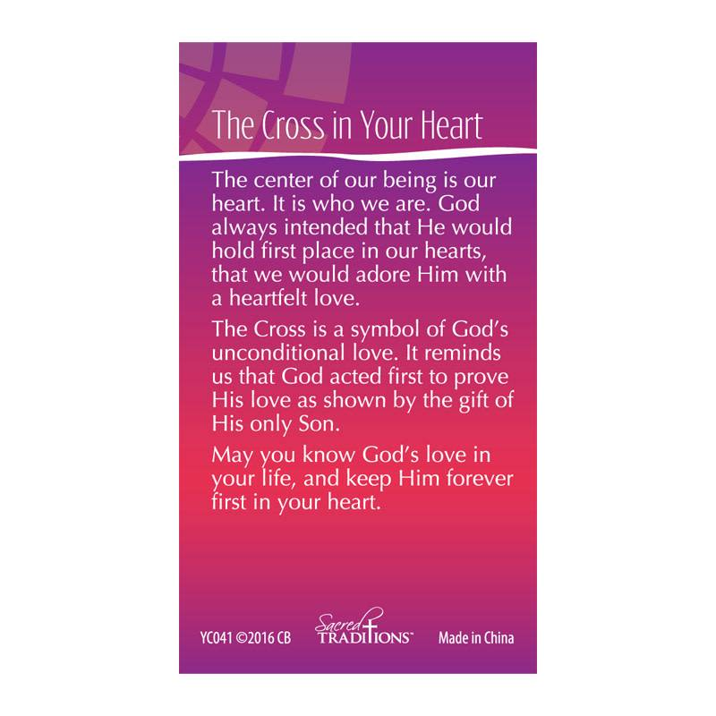 The Cross in Your Heart Lapel Pin