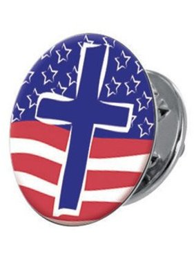 The Cross & The Flag Lapel Pin