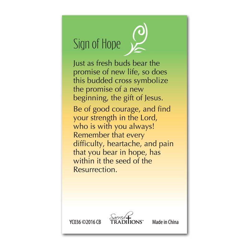 Sign of Hope Lapel Pin