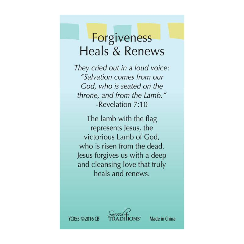Forgiveness Heals and Renews Lapel Pin
