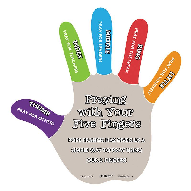 I Pray with My Five Fingers Magnet