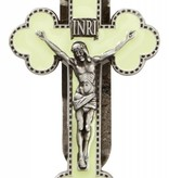 Luminous Budded Crucifix Visor Clip