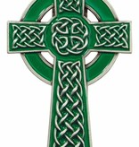 Green Celtic Cross Visor Clip