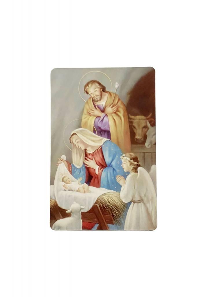 At the Manger Wallet Prayer Card