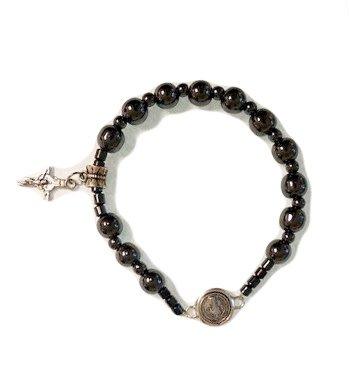 St Benedict Hematite Bracelet w/Medal