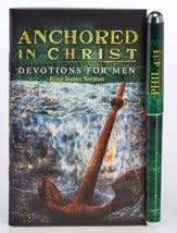 Anchored in Christ Men's Devotional Booklet w/Pen