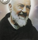 Padre Pio Prayer Card w/Oxidized Medal