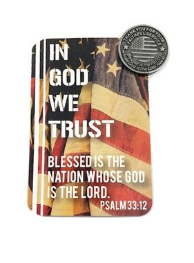 In God We Trust Pocket Token & Prayer Card
