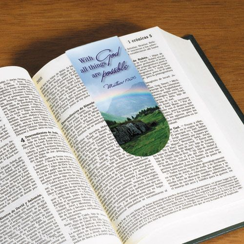 With God All Things Are Possible Magnetic Bookmark
